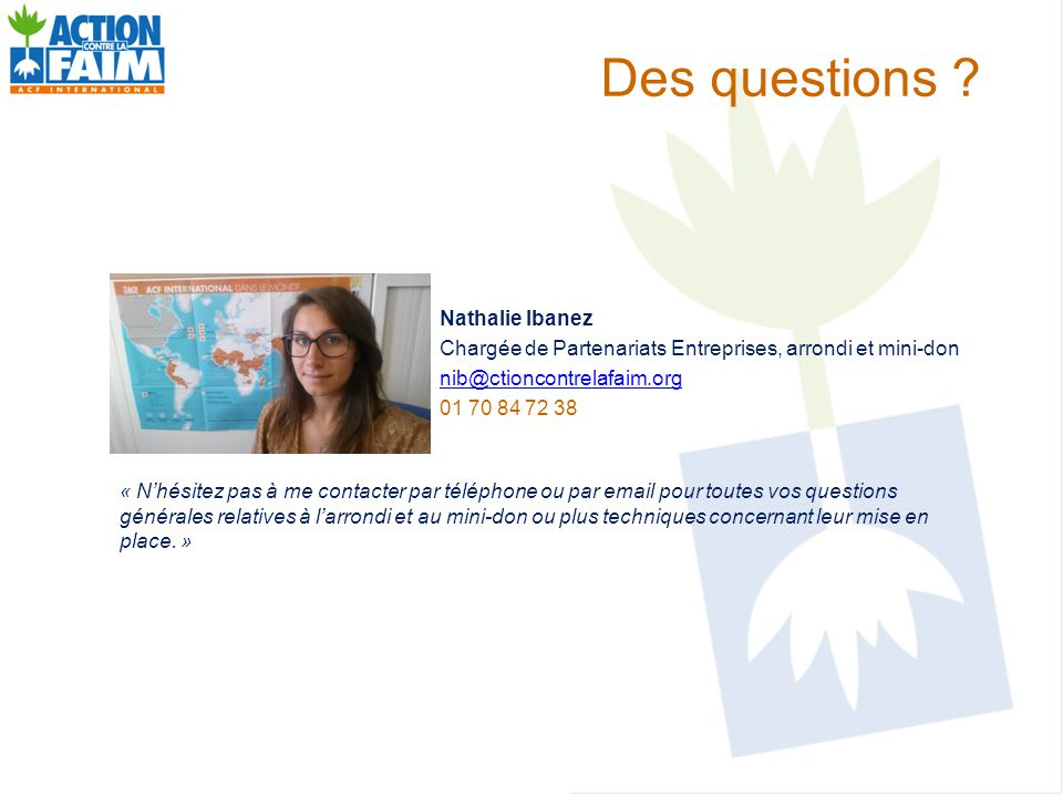 Des questions Nathalie Ibanez
