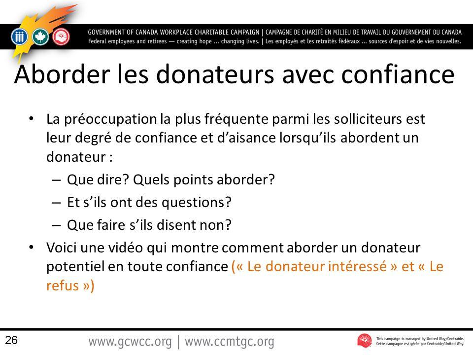 Aborder les donateurs avec confiance