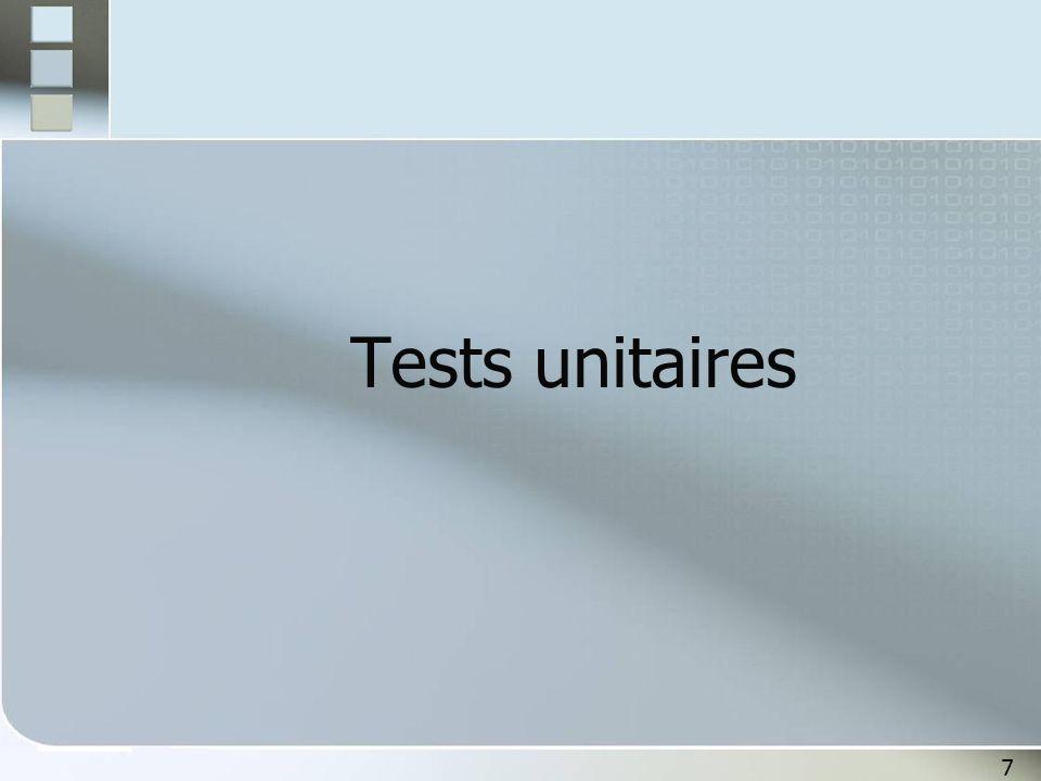 Tests unitaires 7 7