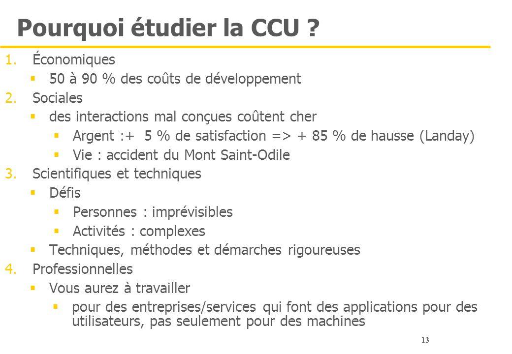 Pourquoi étudier la CCU