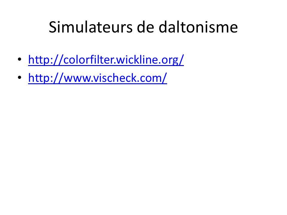 Simulateurs de daltonisme