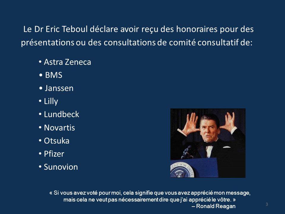 Le Dr Eric Teboul déclare avoir reçu des honoraires pour des présentations ou des consultations de comité consultatif de: