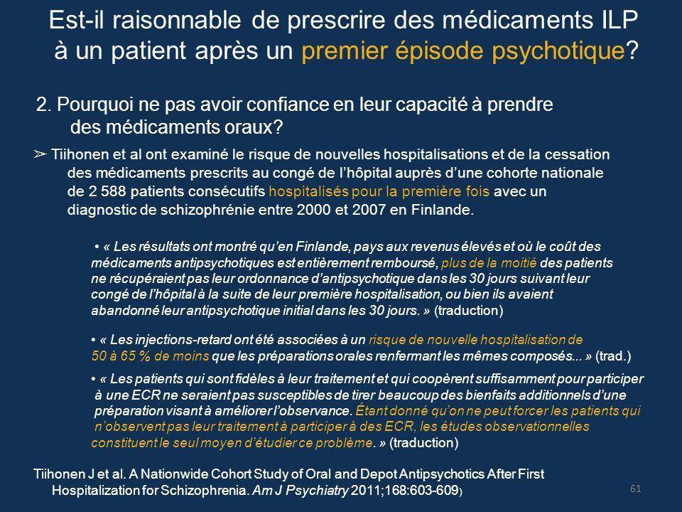 Est-il raisonnable de prescrire des médicaments ILP