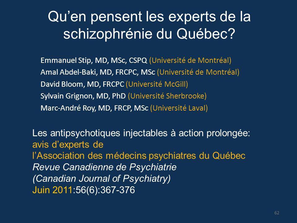 Qu'en pensent les experts de la schizophrénie du Québec