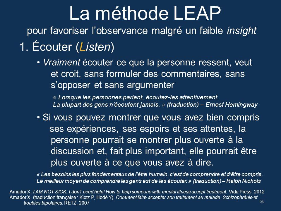 La méthode LEAP 1. Écouter (Listen)