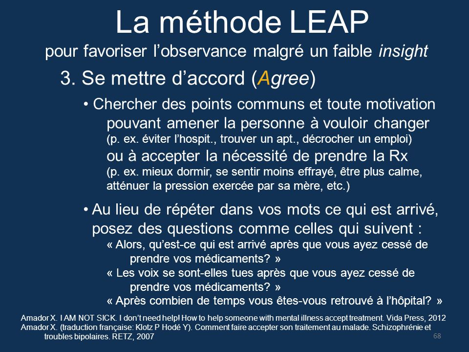 La méthode LEAP 3. Se mettre d'accord (Agree)