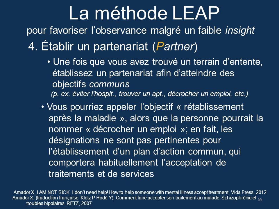 La méthode LEAP 4. Établir un partenariat (Partner)