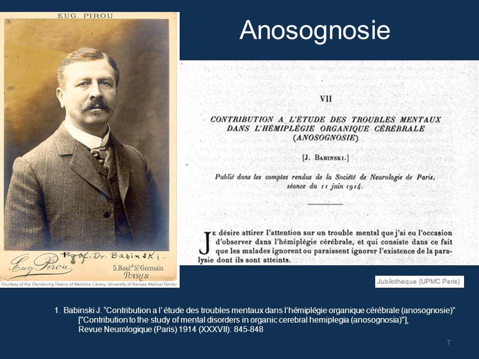Anosognosie