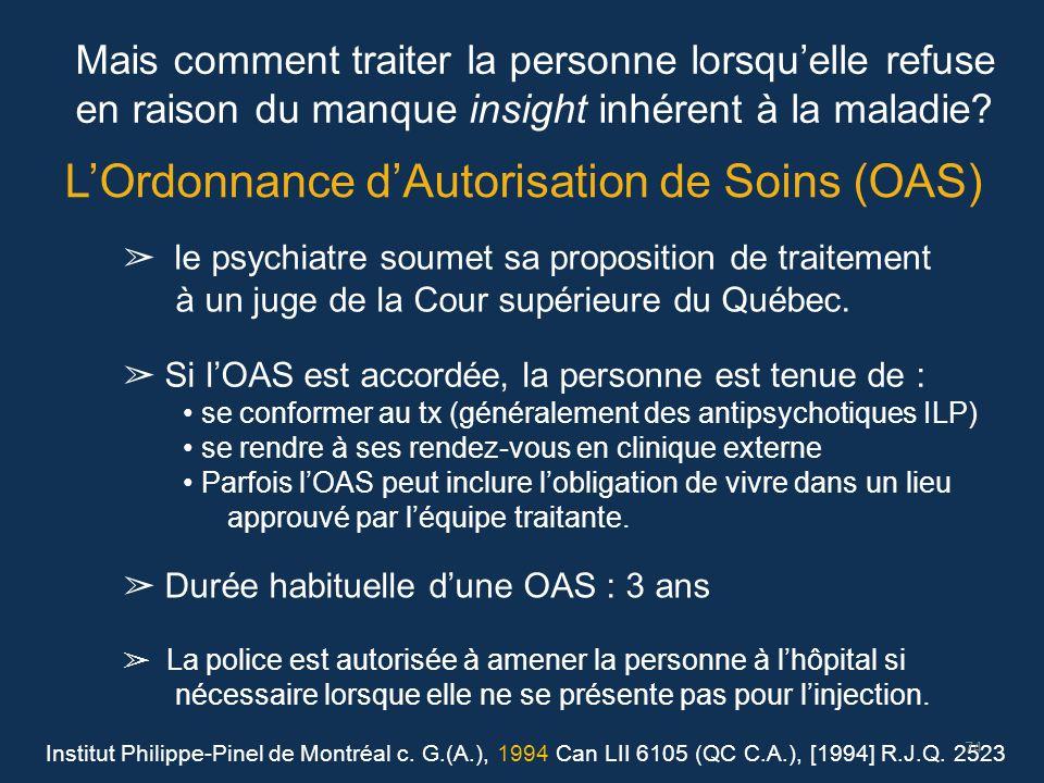 L'Ordonnance d'Autorisation de Soins (OAS)