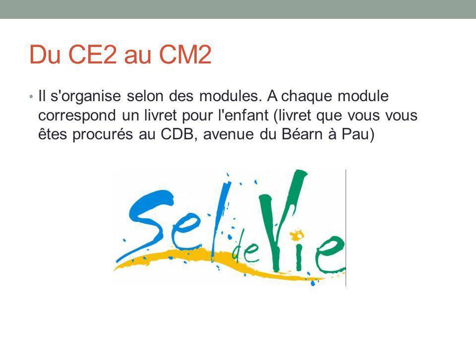 Du CE2 au CM2