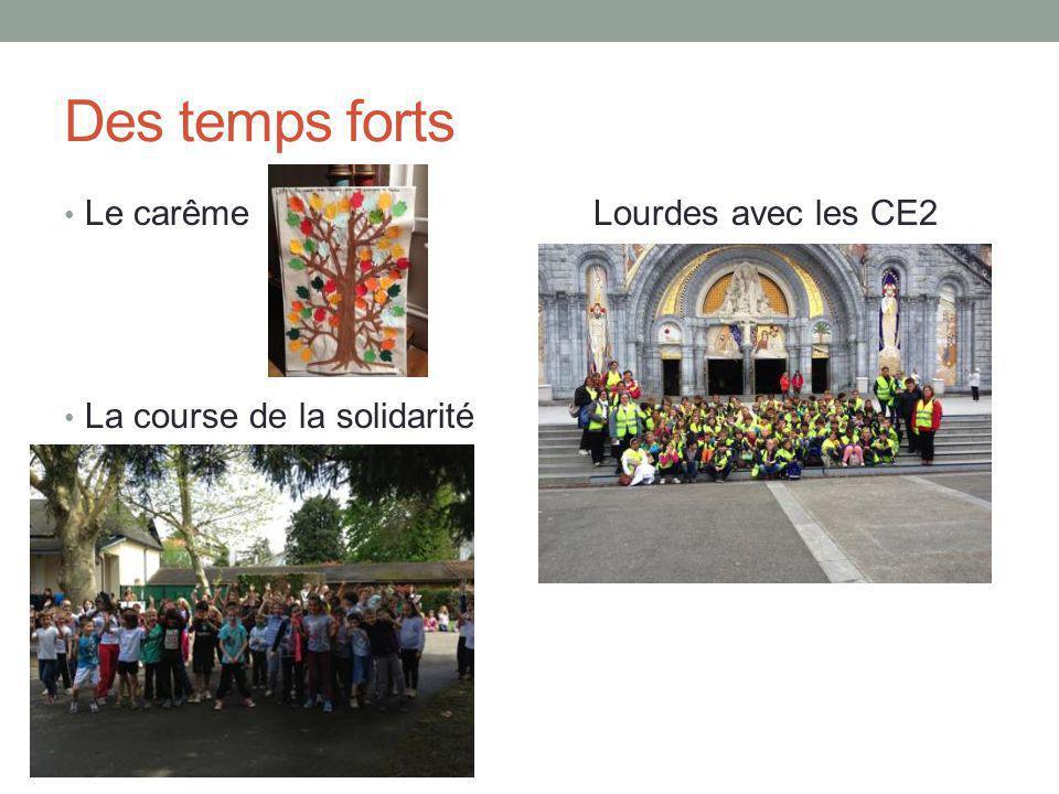 Des temps forts Le carême Lourdes avec les CE2