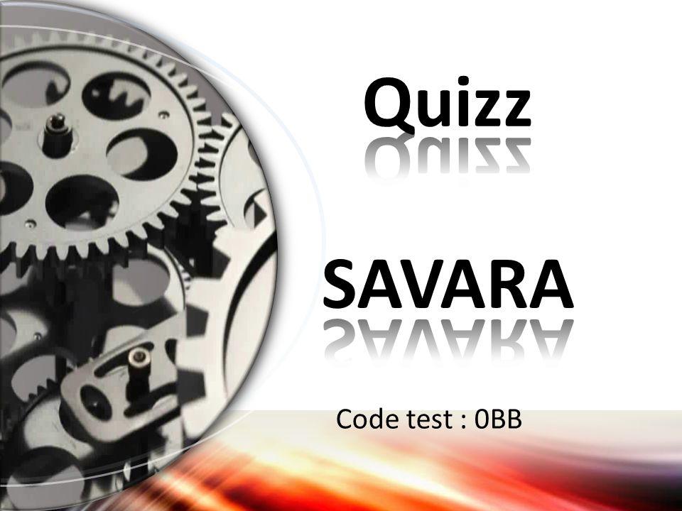 Quizz SAVARA Code test : 0BB Demi-cercle (Avancé)