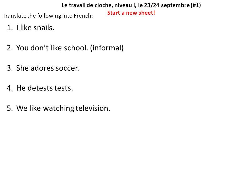 Le travail de cloche, niveau I, le 23/24 septembre (#1)