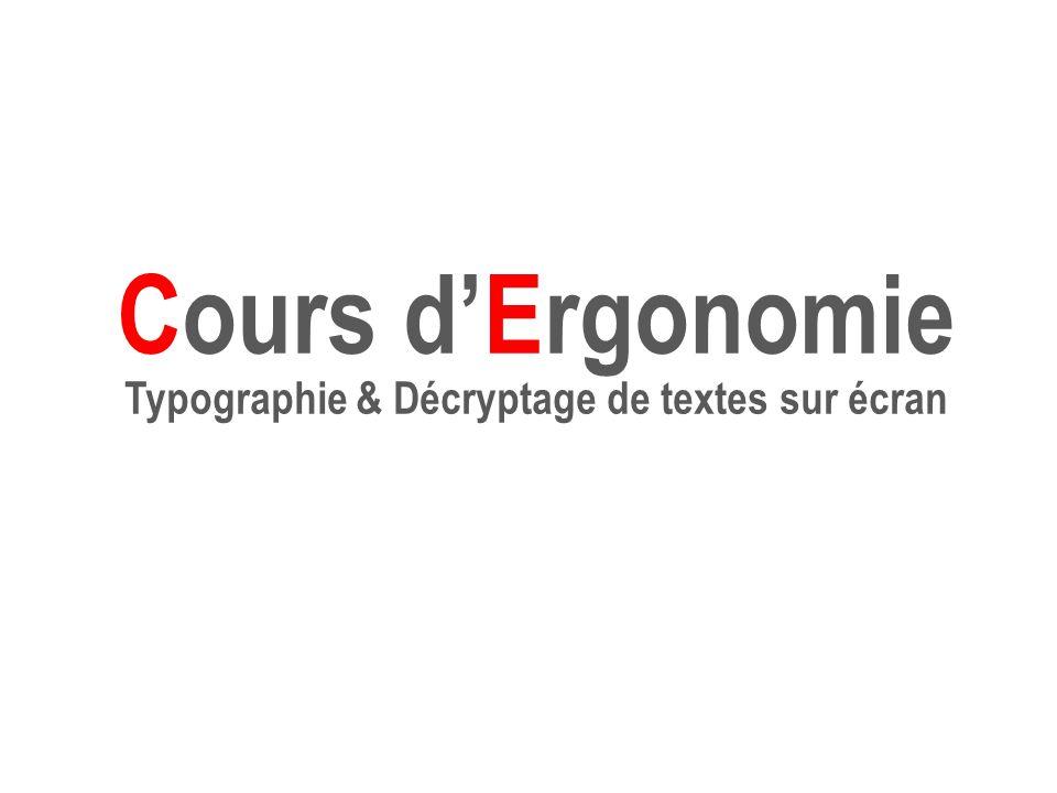 Typographie & Décryptage de textes sur écran