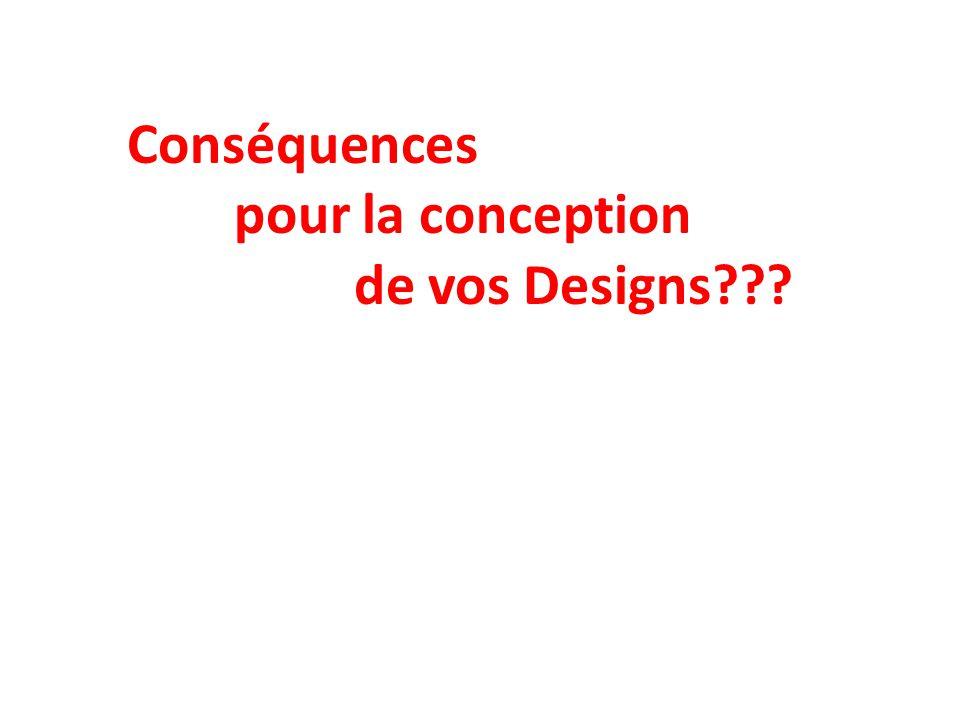 Conséquences pour la conception de vos Designs