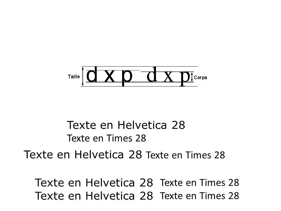 Texte en Helvetica 28 Texte en Times 28. Texte en Helvetica 28 Texte en Times 28. Texte en Helvetica 28.