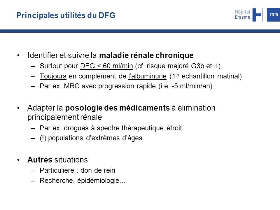 Principales utilités du DFG