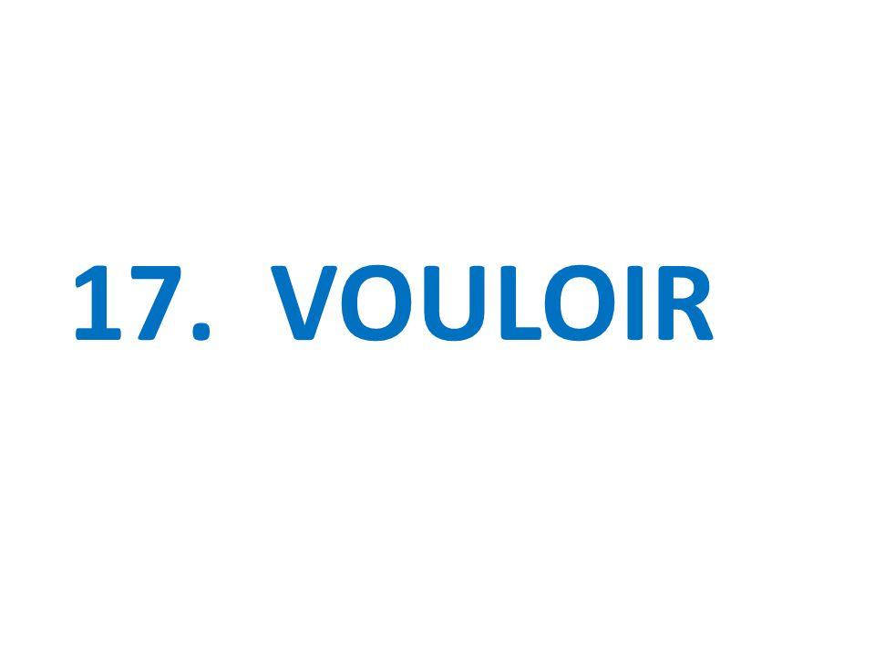 17. VOULOIR