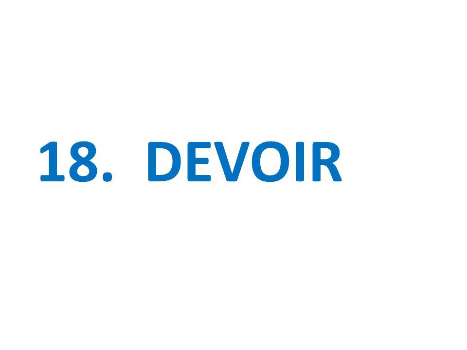 18. DEVOIR