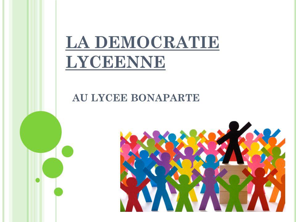 LA DEMOCRATIE LYCEENNE
