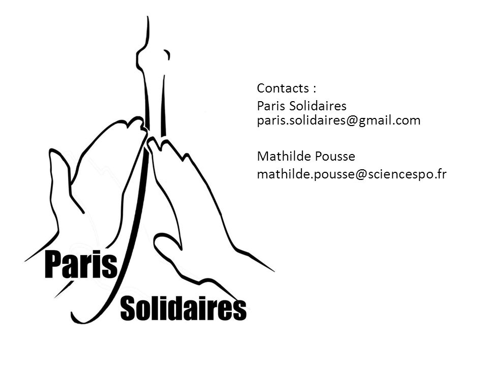 Contacts : Paris Solidaires paris. solidaires@gmail