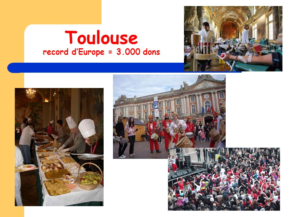 Toulouse record d'Europe = 3.000 dons