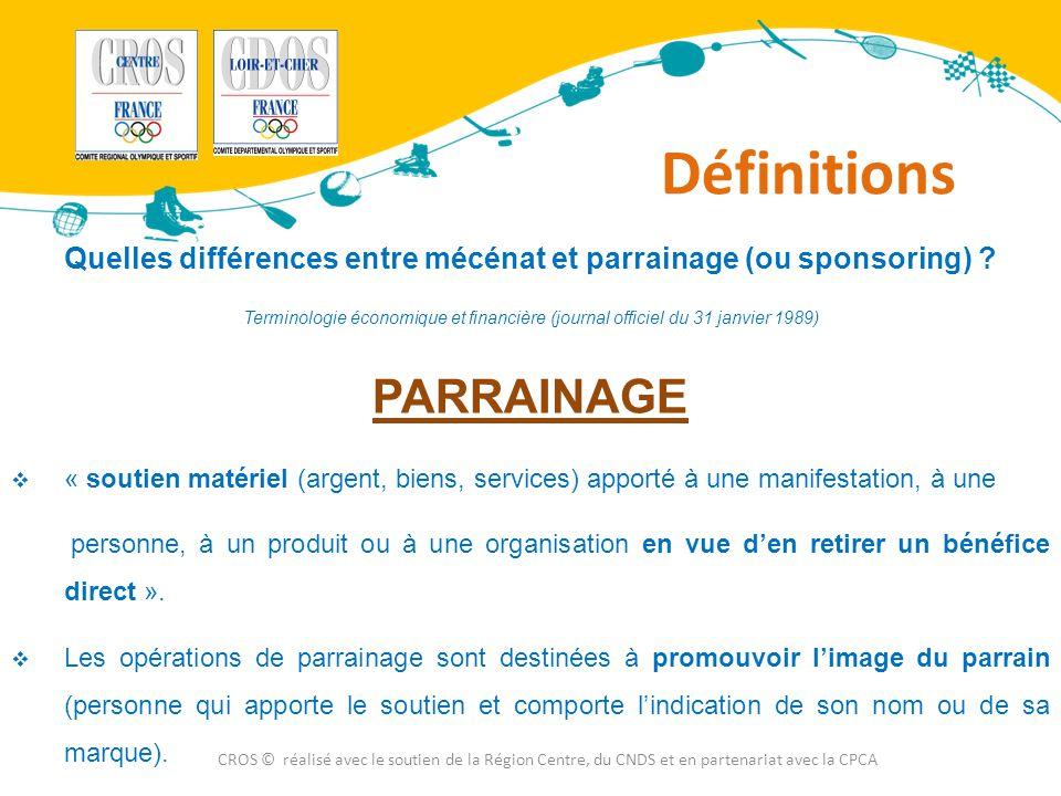 Quelles différences entre mécénat et parrainage (ou sponsoring)