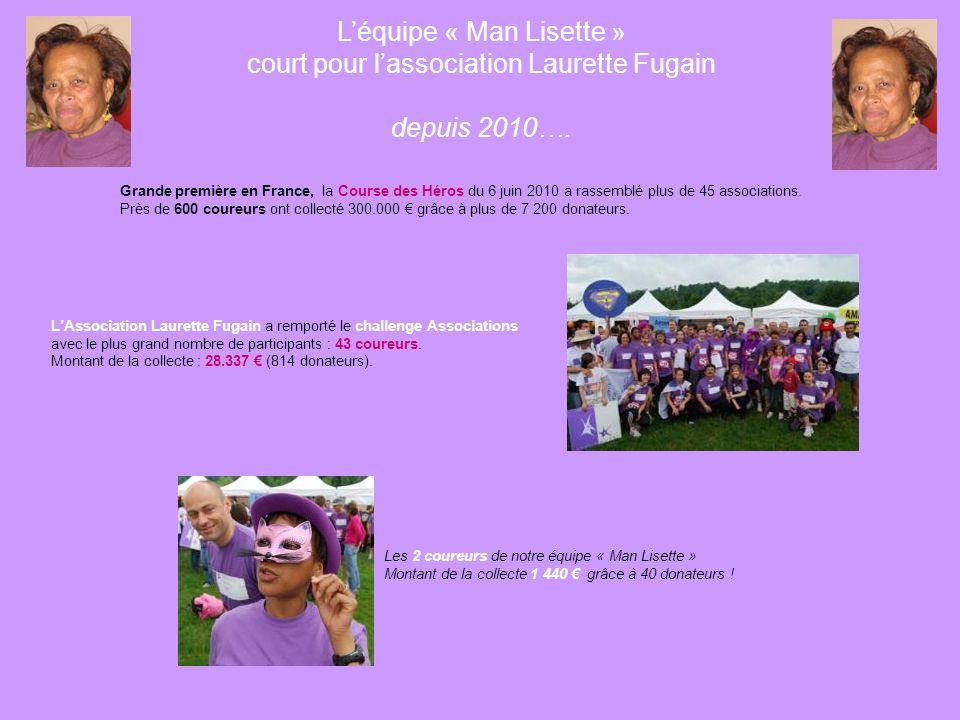L'équipe « Man Lisette » court pour l'association Laurette Fugain depuis 2010….
