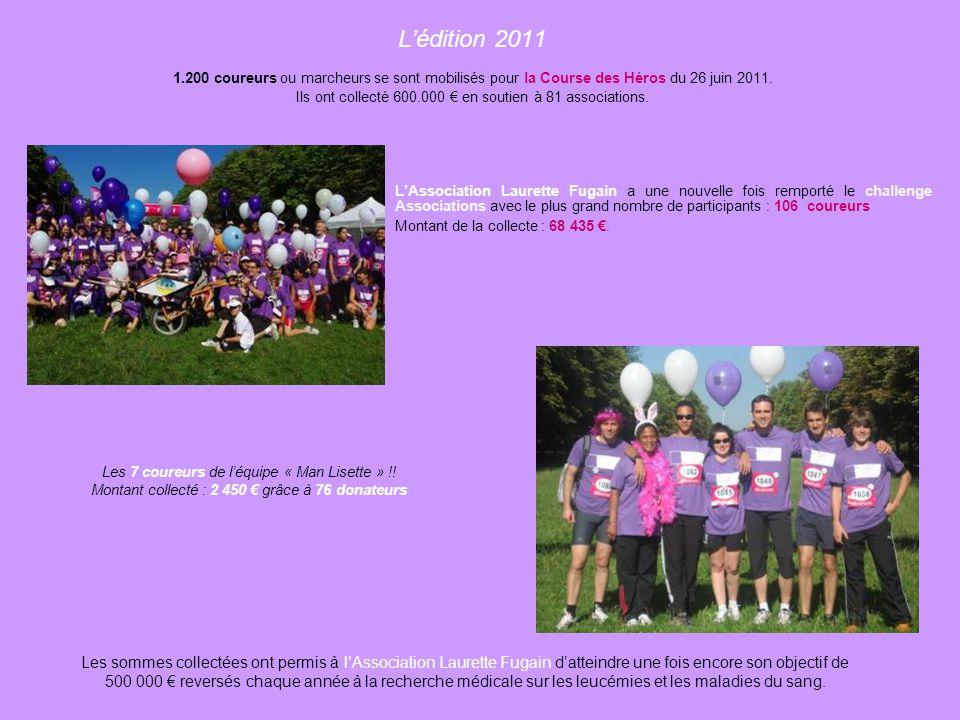 L'édition 2011 1.200 coureurs ou marcheurs se sont mobilisés pour la Course des Héros du 26 juin 2011.