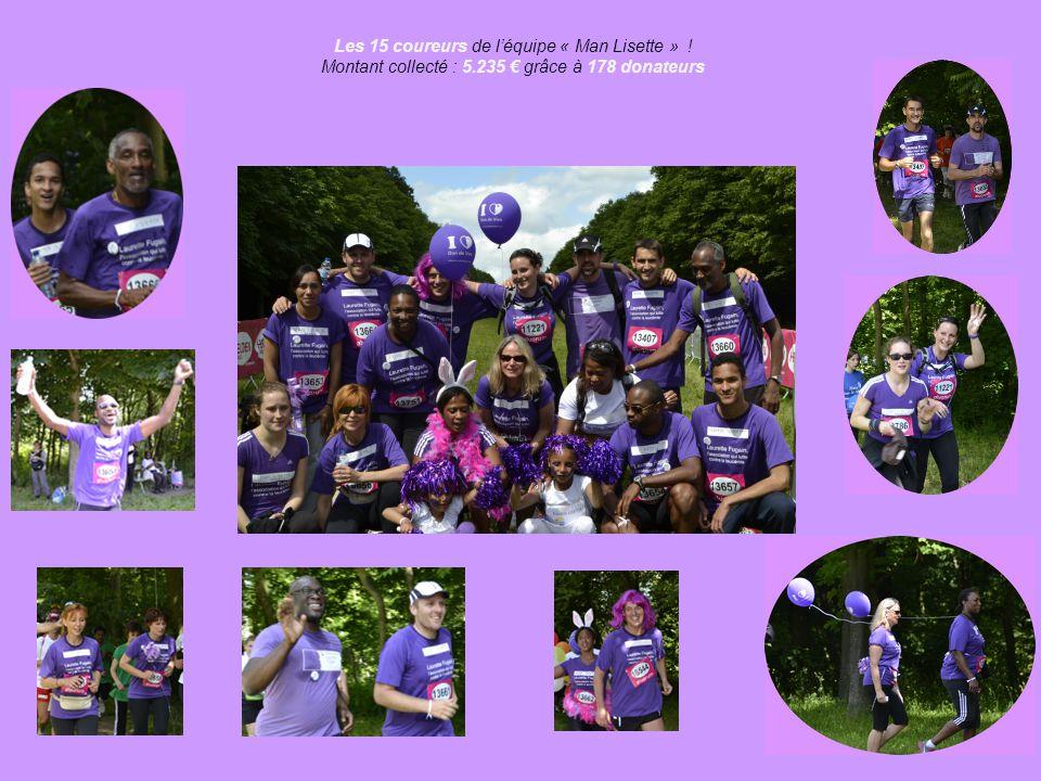 Les 15 coureurs de l'équipe « Man Lisette » !