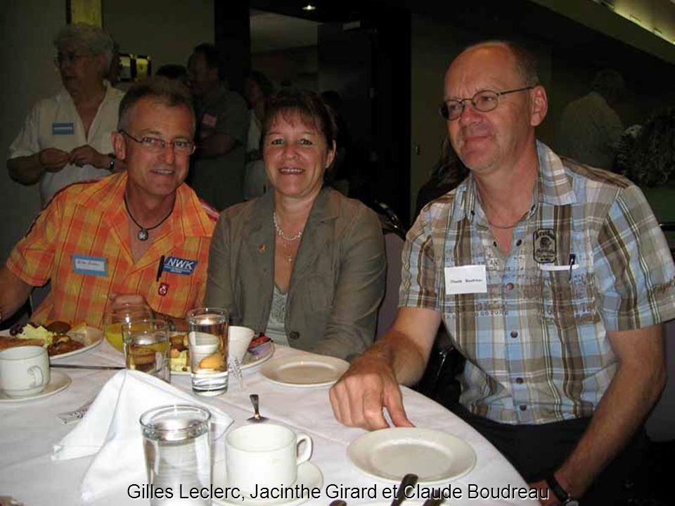 Gilles Leclerc, Jacinthe Girard et Claude Boudreau