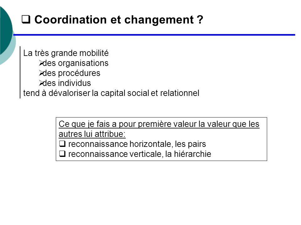 Coordination et changement