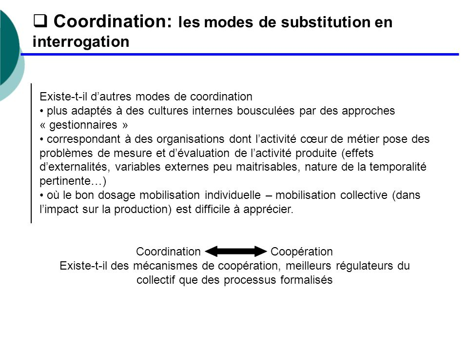 Coordination Coopération