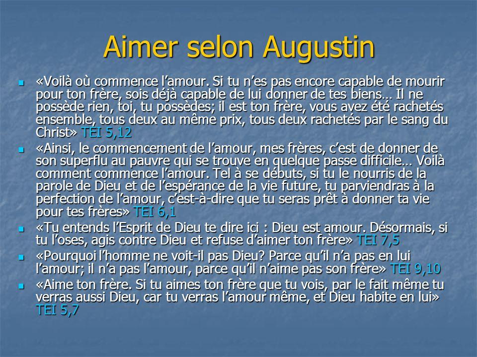 Aimer selon Augustin
