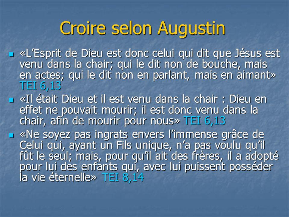 Croire selon Augustin