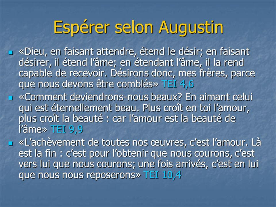 Espérer selon Augustin