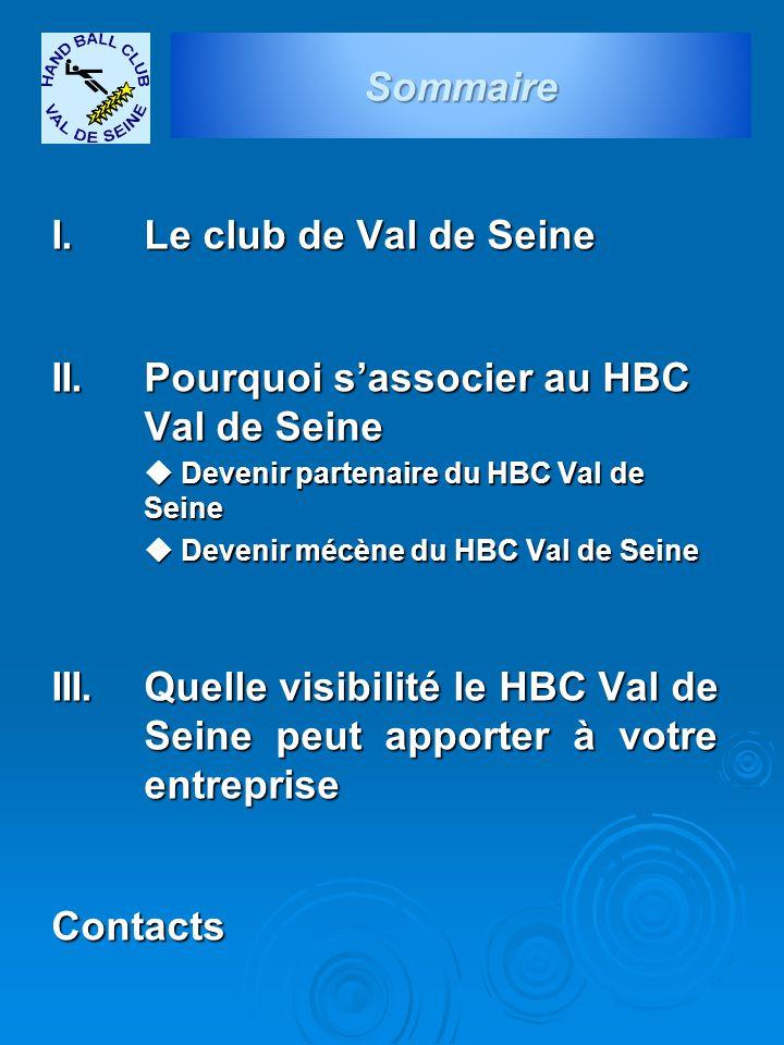 II. Pourquoi s'associer au HBC Val de Seine