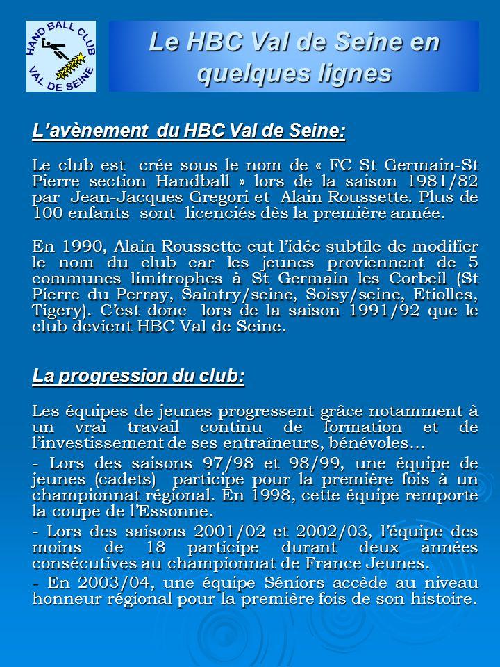 Le HBC Val de Seine en quelques lignes