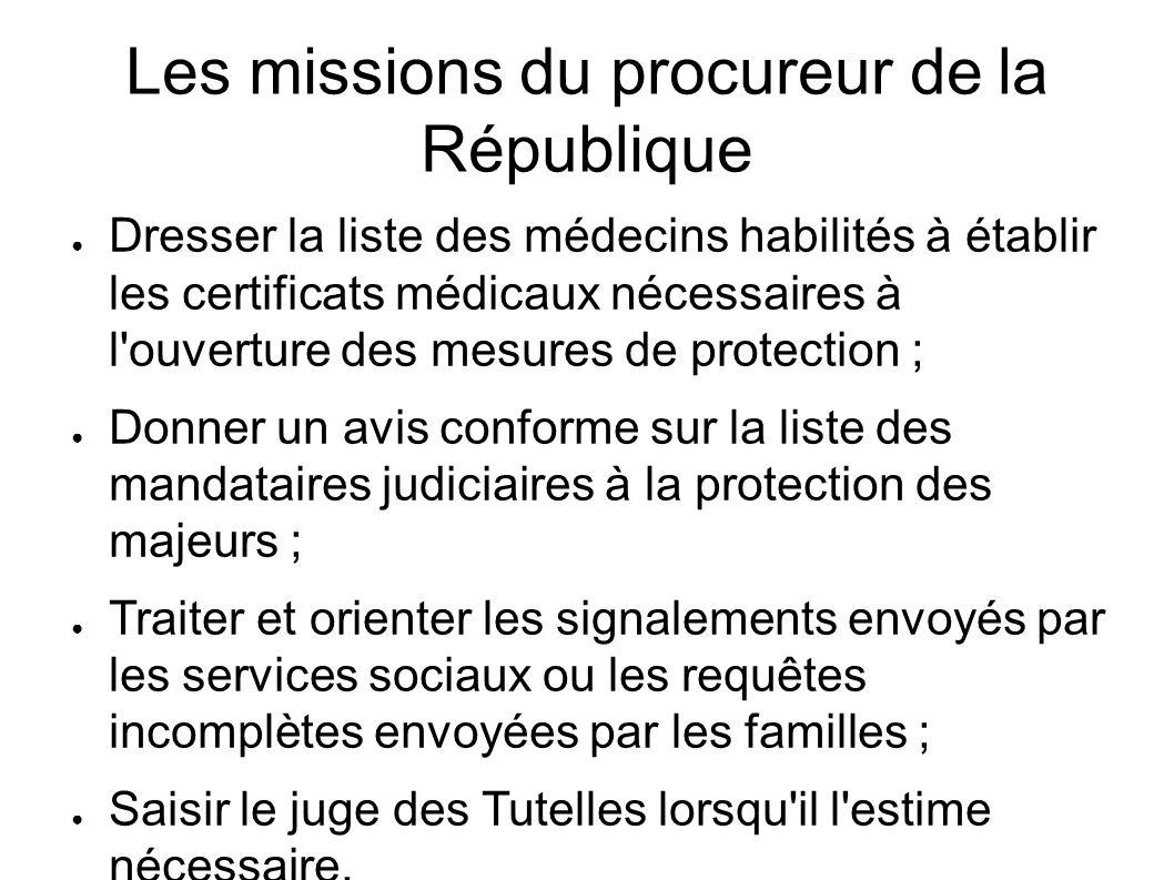 Les missions du procureur de la République