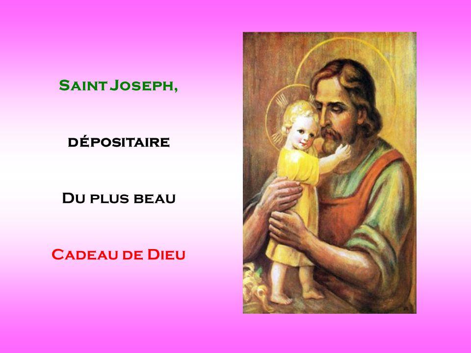 Saint Joseph, dépositaire Du plus beau Cadeau de Dieu . .
