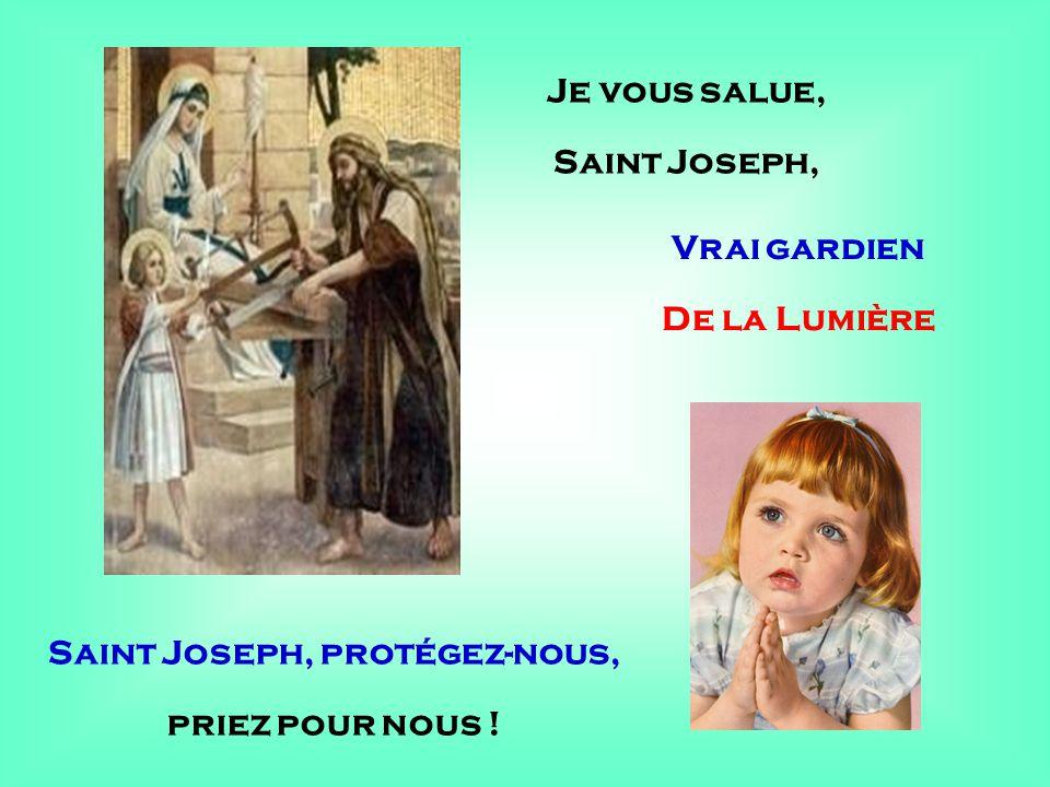 Saint Joseph, protégez-nous,