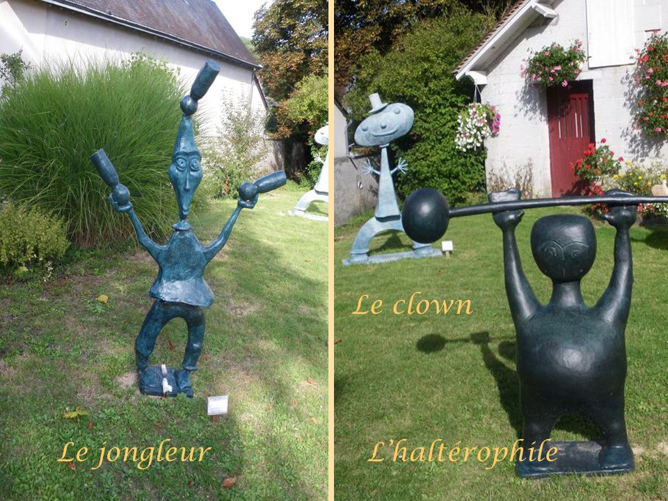 Le clown Le jongleur L'haltérophile