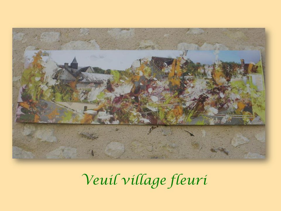 Veuil village fleuri