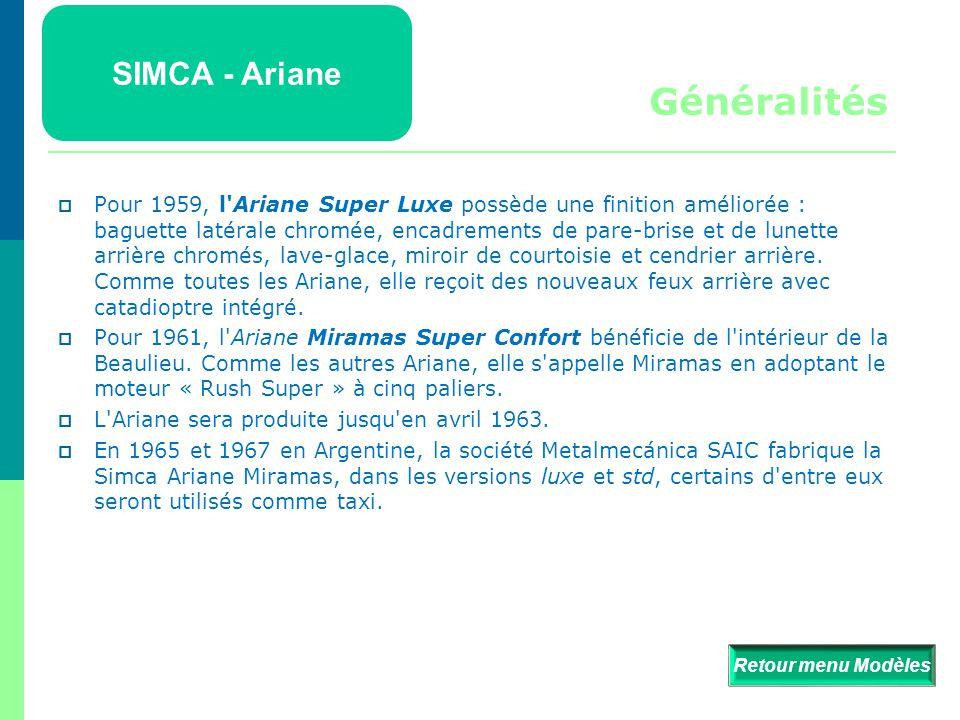 Généralités SIMCA - Ariane
