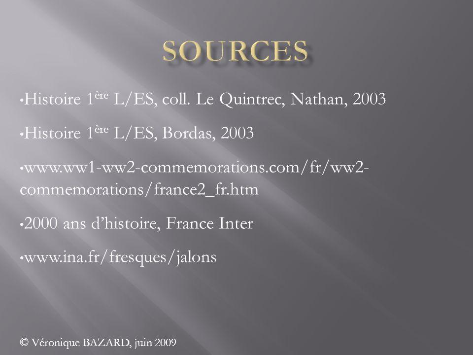 sources Histoire 1ère L/ES, coll. Le Quintrec, Nathan, 2003