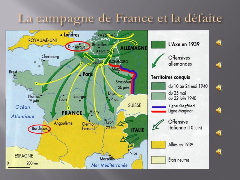 La campagne de France et la défaite