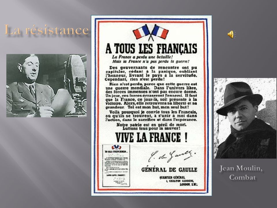 La résistance Jean Moulin, Combat
