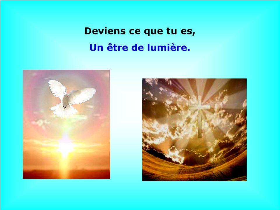 Deviens ce que tu es, Un être de lumière.