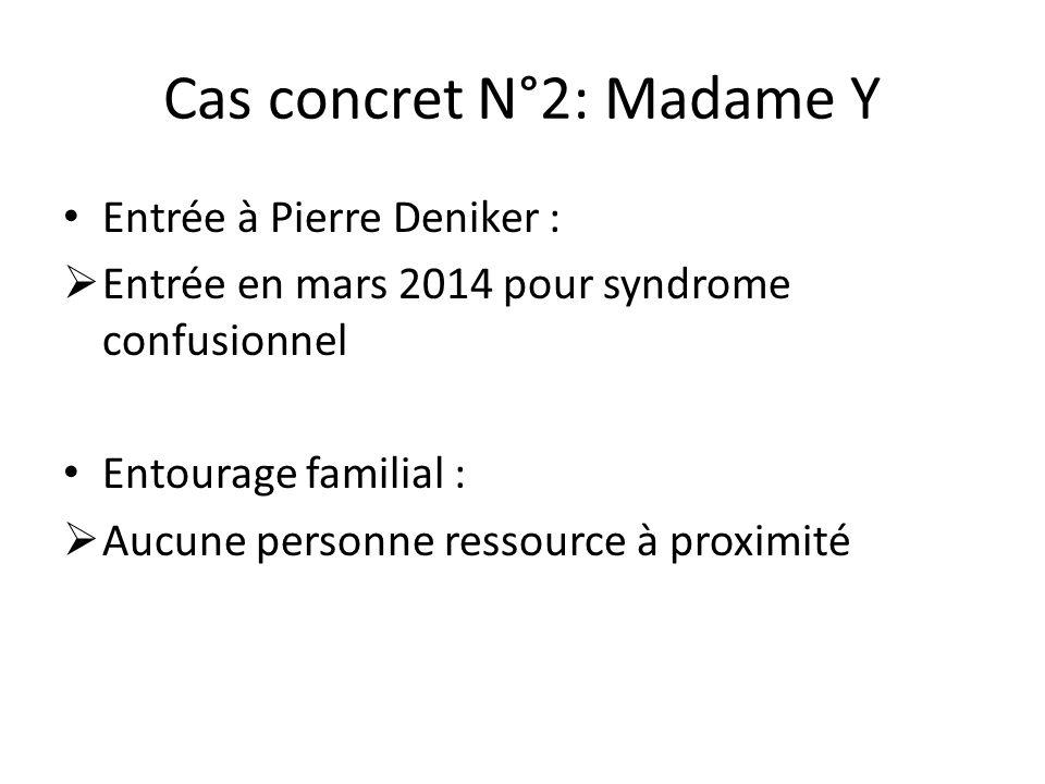Cas concret N°2: Madame Y