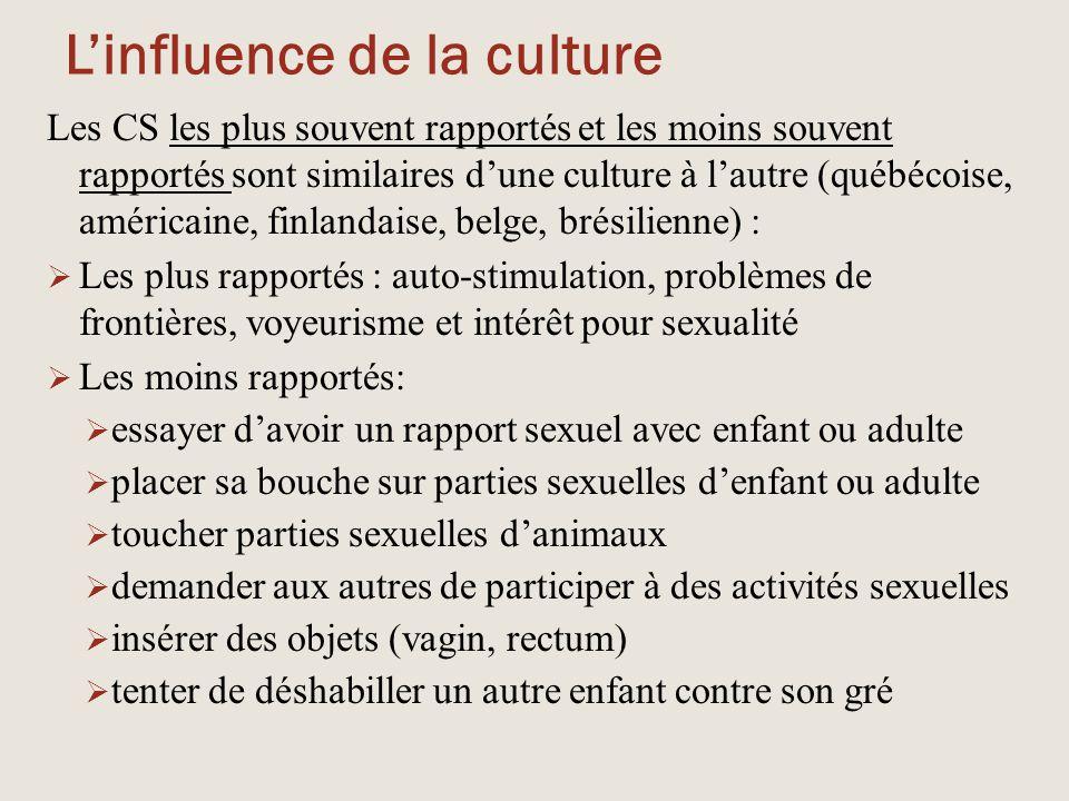 L'influence de la culture